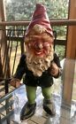 Antique Cast Iron Garden Gnome with Original Paint