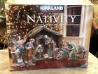 Kirkland Christmas Nativity Set Large Creche de Noel 15 Pcs Hand Painted
