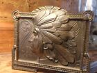 1920s H. L. Judd Indian Brass Expandable Book Rack bookends bookrack  Naive Amer