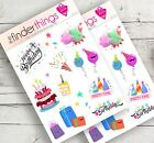 Happy Birthday Stickers for Scrapbook Planners Diary and Fun Precut