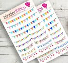 Banner  Garland Border Stickers for Scrapbook Planners Diary and Fun Precut
