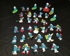 Vintage Smurfs Figures Lot rubber toys and plastic 70s and 80s
