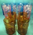 Bryce El Rancho glass tumblers var sizes colors pink blue amber Morocco brown