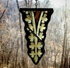 Architectual Salvage Antique Church Stained Glass -Painted Spire
