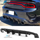 Fits 15 20 Dodge Charger SRT OE Style Rear Diffuser Bumper Lip PP