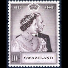 SWAZILAND 1948 10s Brown Silver Wedding SG 47 Lightly Hinged Mint AB292