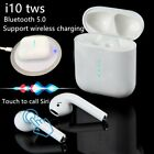 i10 TWS True Wireless Bluetooth 50 Earphone Headphone In Ear Touch Earbuds Mic
