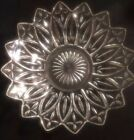 Vintage 1940 Federal Serving Bowl American Pressed Glassware Clear Petal Design