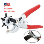6 Sized 9 Heavy Duty Leather Hole Punch Hand Pliers Belt Holes Punches Tool US