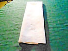 FANTASTIC WHITE DAMASK TOWEL WITH A FABULOUS HAND EMBROIDERED MONO, VINTAGE 1920