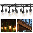 15M 49FT Outdoor Waterproof Commercial Grade Patio Globe String Lights LED Bulbs