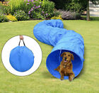 Pawhut 16 Pet Dog Training Agility Open Tunnel Chute Puppy Tube w Carrier Bag