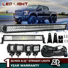54in LED Offroad Light Bar Combo+22in+4x240W PODS SUV 4WD UTE FORD TRUCK 50 42