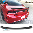 Fits 15-18 Dodge Charger V2 Style Matte Black ABS Rear Trunk Spoiler Lid