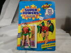 1984 CARDED 12 Back Kenner Super Powers Robin UNOPENED UNPUNCHED