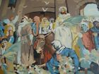 VTG COMPLETE PAINT by NUMBER Jesus NATIVITY FRAMED PICTURE 21 x 27 Finished