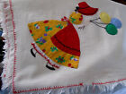 VINTAGE Victorian SUNBONNET GIRL APPLIQUE COTTON TABLECLOTH 34