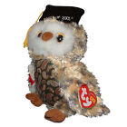 Ty Beanie Baby Smarty - MWMT (Owl Blue Chest Internet Exclusive 2005)