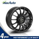 4 X Black 15x65 Wheels Rims 4x100 +40mm For Honda Civic Fit CRX Accord Prelude