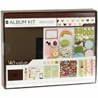 8 x 8 Scrapbooking Album Kit Album Papers Stickers Chipboard Shapes More