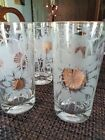 Gold Sunflower Floral DRINKING GLASSES.