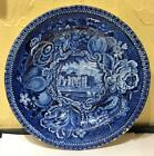 Staffordshire Dark Blue Transfer Plate,