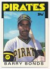BARRY BONDS 1986 TOPPS TRADED #11 RC ROOKIE CARD PIRATES GIANTS MINT $25
