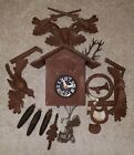 Germany E. Schmeckenbecher 8-Day? Deer Cuckoo Clock Parts or Repair