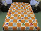 Vntage Hand Pieced Feed Sack Cotton BASKETS Quilt TOP, Novelty Prints; 81