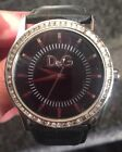 LADIES DG TIME LEATHER STRAP WATCH NEW BATTERY IN IT FULLY WORKING