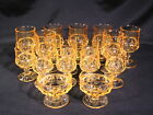 Colony Crown Color Yellow Topaz Stemmed Goblets Lot of 16