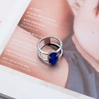 Kendra Scott Elyse Ring in SILVER navy cats Eye Sparkle Jewelry SIZE 7