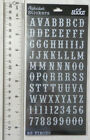 Sticko CARNIVAL WHITE GLITTER ALPHA SMALL Package Alphabet  Number Stickers