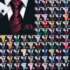 USA 189 Colors Mens Silk Tie Necktie Set Red Blue Black Grey Green Pink Wedding