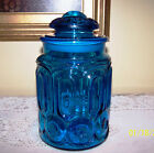 Stars Glass Canister Apothecary Jar w/Lid 9 1/2
