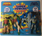 Super Powers Double Carded Custom Mint Batman  robin MOC  comic card Bonus