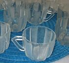 12 Clear Art-Deco Partyware Glass Vertical Horizontal Cuts - 1/2 cup Servings