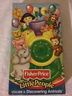 FISHER PRICE LITTLE PEOPLE VOLUME 3 DISCOVERING ANIMALS VHS BRAND NEW SEALED