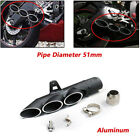 USA Three outlet Tail Exhaust Muffler Pipe For 51mm Motorcycle Exhaust System