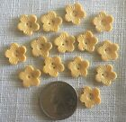 Small Antique VINTAGE Buttons Early Plastic YELLOW Flowers 14 pc.