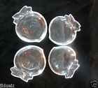 Mid Century Modern Peach Glass Coasters 4 Retro Home candy nut dish Individuals