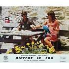 PIERROT LE FOU Lobby Card 95x12 in N02 1965 Jean Luc Godard Jean Paul Be