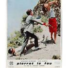PIERROT LE FOU Lobby Card 95x12 in N12 1965 Jean Luc Godard Jean Paul Be