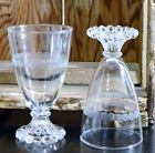 Vtg/Anchor Hocking Glass/Boopie/Clear/Wine/Water Goblet/5 1/2