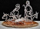 Collectible Vtg Italian Signed Sterling Silver 5 Piece Mini Sculpture Nativity