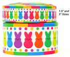3 And 1.5 Grosgrain Rainbow Easter Peeps 3 Inch 15 Inch 1 35 Yds