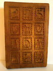 ANTIQUE VINTAGE WOOD HAND CARVED SPRINGERLE MOLD.  BEAUTIFUL!   9