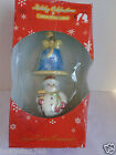 2 Christopher Radko Holiday Celebration Hand Painted Snowman & Bell Ornaments