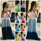 BEACH GYPSY Boho Ombre Tie Dye Super Flowy Maxi Dress or Cover Up 9 COLORS S-XL