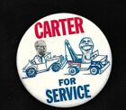 original 1976 JIMMY CARTER, GERALD FORD CARTER for SERVICE caricature button
